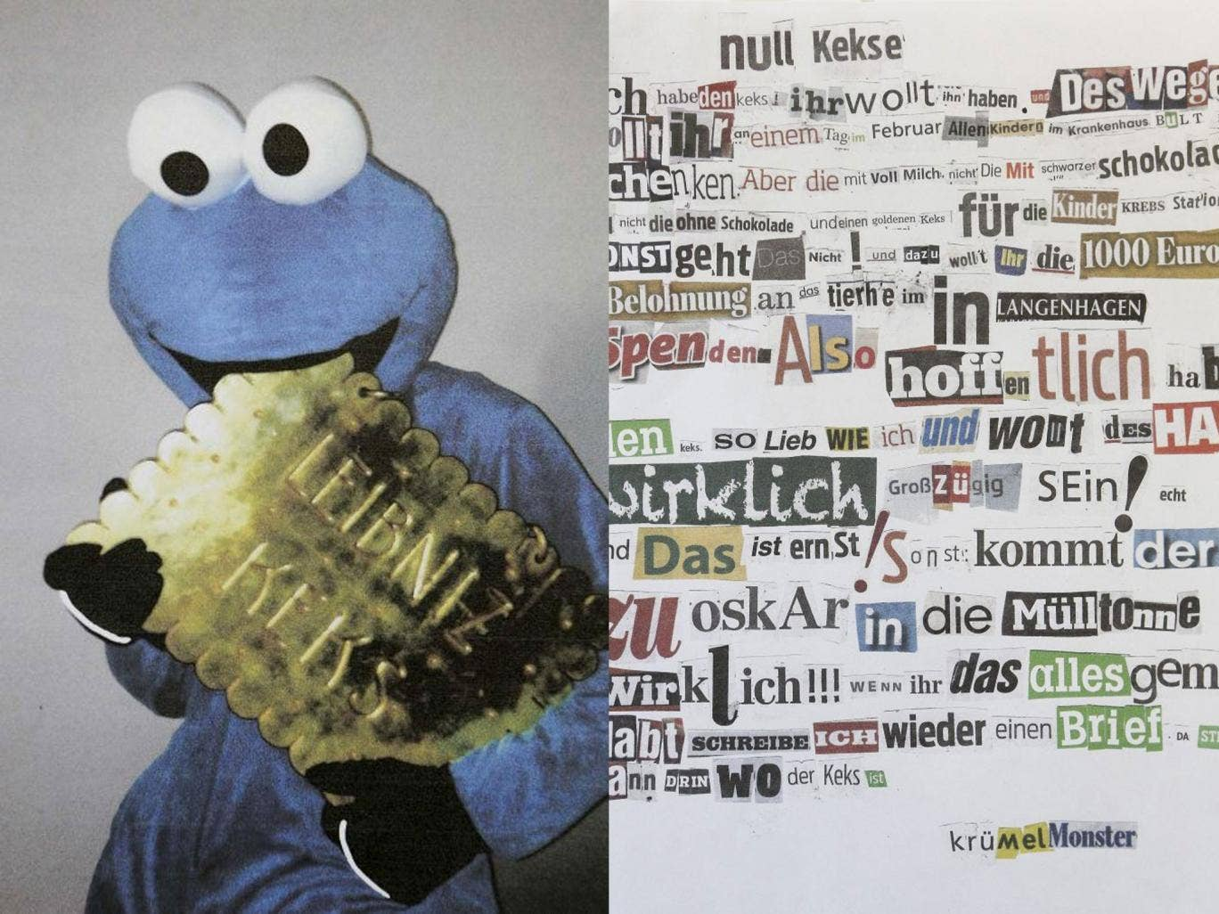 The alleged cookie monster thief and the ransom note