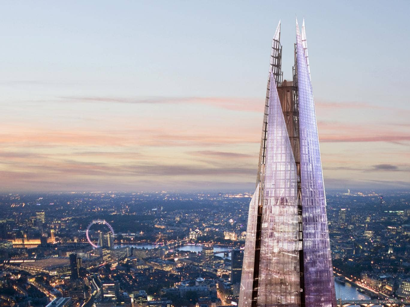 The pinnacle of The Shard