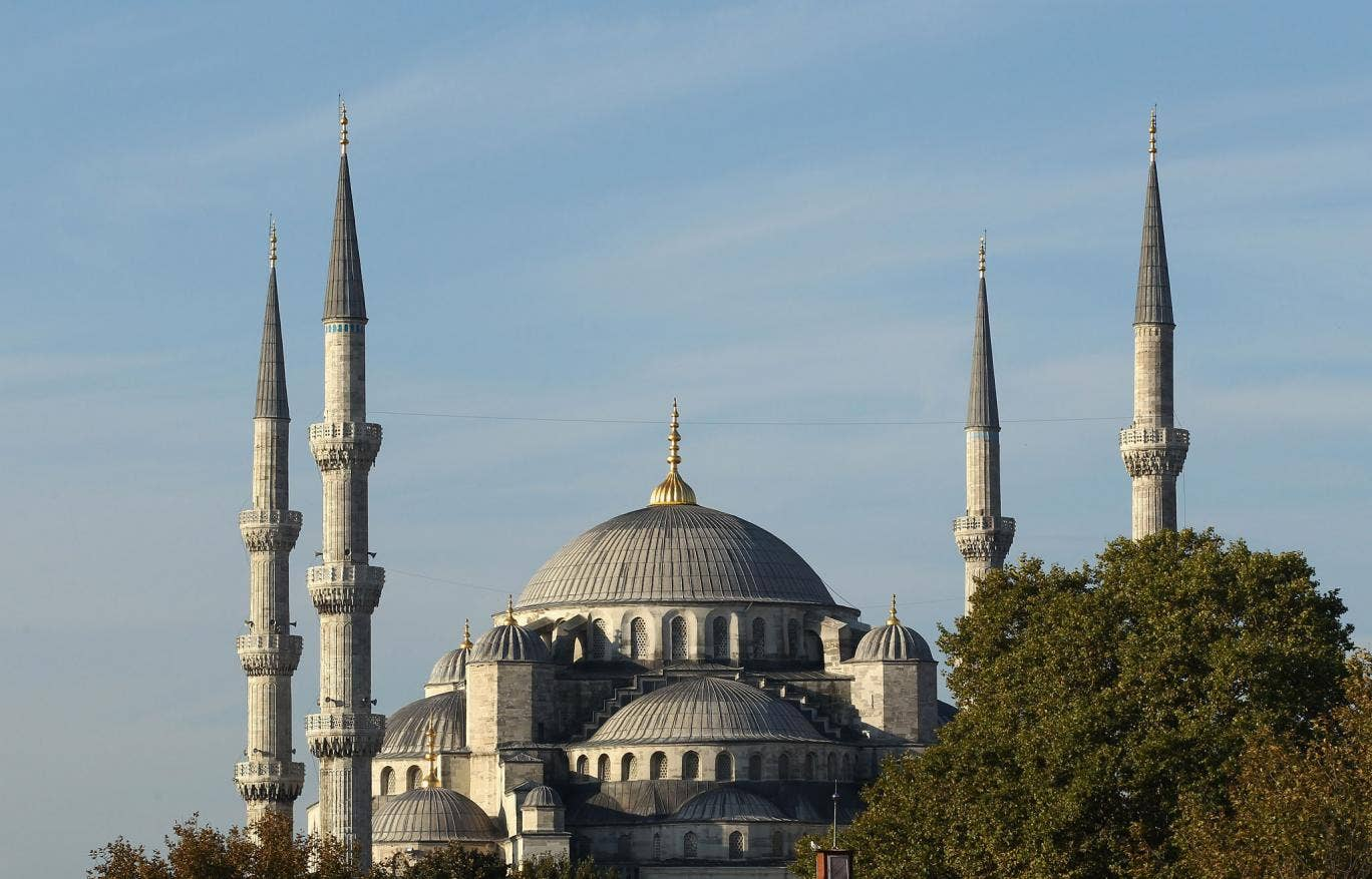 Leading light: The 17th-century Blue Mosque and its six minarets dominate the Istanbul skyline