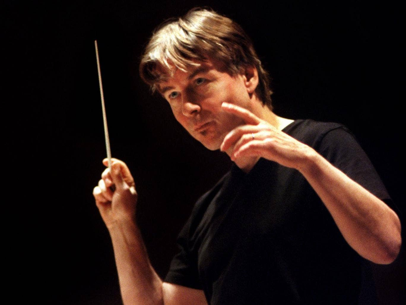 Perfect pace: Esa-Pekka Salonen in rehearsal for Woven Words, which marks the centenary of Witold Lutoslawski