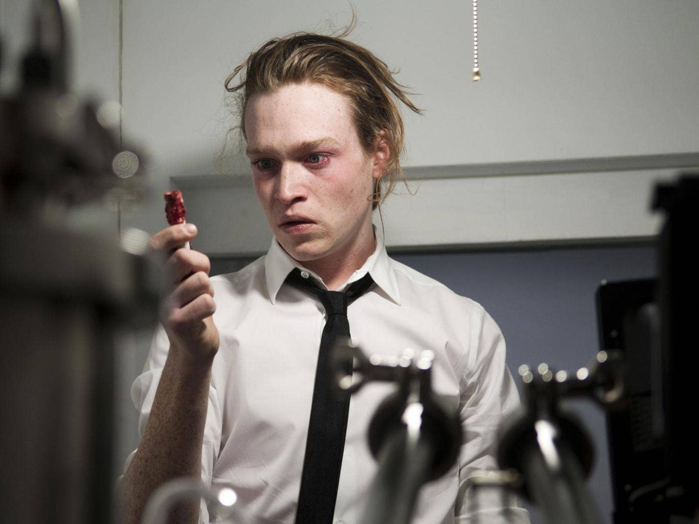 Gone viral: Caleb Landry Jones stars as Syd, a dealer in celebrity illnesses