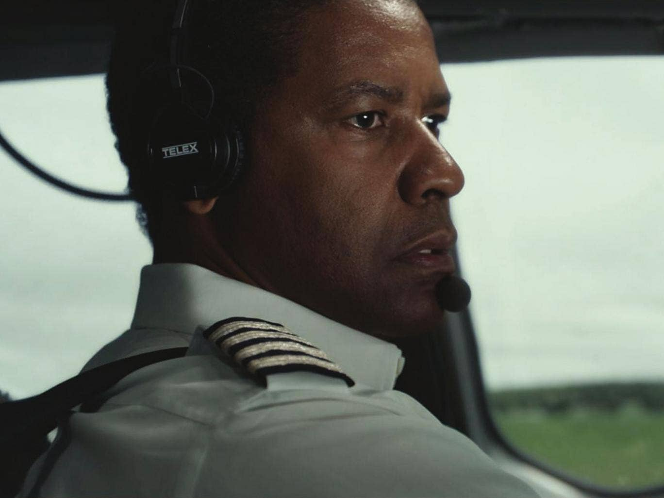 Flawed hero: Washington has deservedly been Oscar-nominated for his troubled airline pilot in Flight