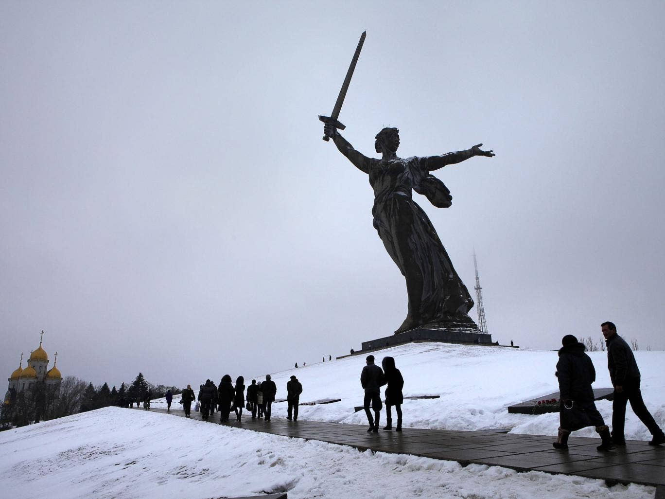 The Mother Russia statue
