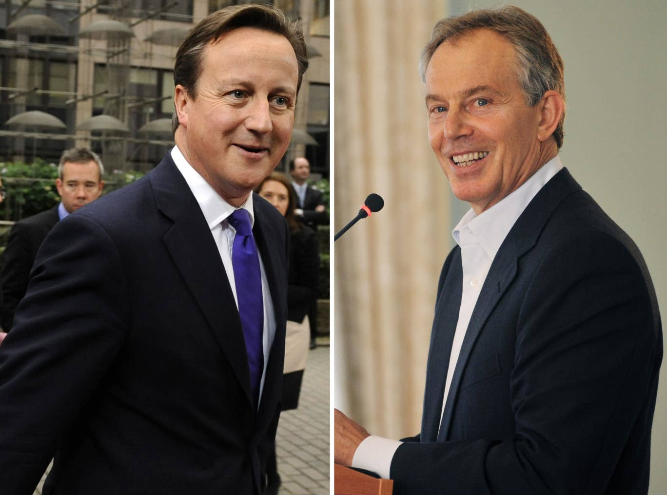 The friendship between former PM Tony Blair and current PM David Cameron is an unlikely one