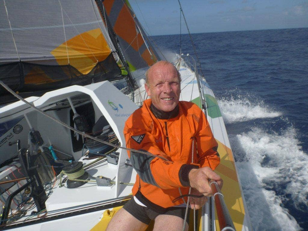 A self-portrait of Mike Golding in sunnier climes. The British solo sailor is due to finish the Vendée Globe singlehanded non-stop round the world race at Les Sables d'Olonne on Wednesday.