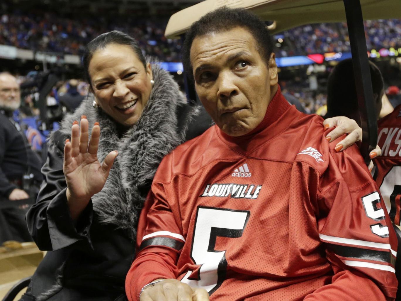 Former boxing legend Muhammad Ali