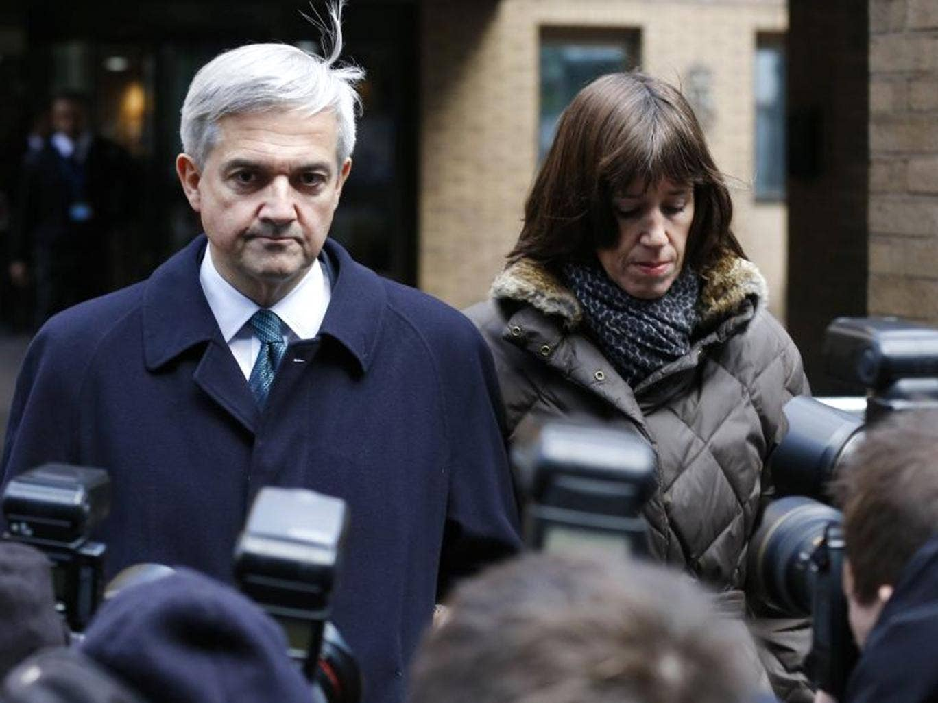 Former Liberal Democrat Cabinet minister Chris Huhne, pictured with partner Carina Trimingham, pleaded guilty and resigned as an MP