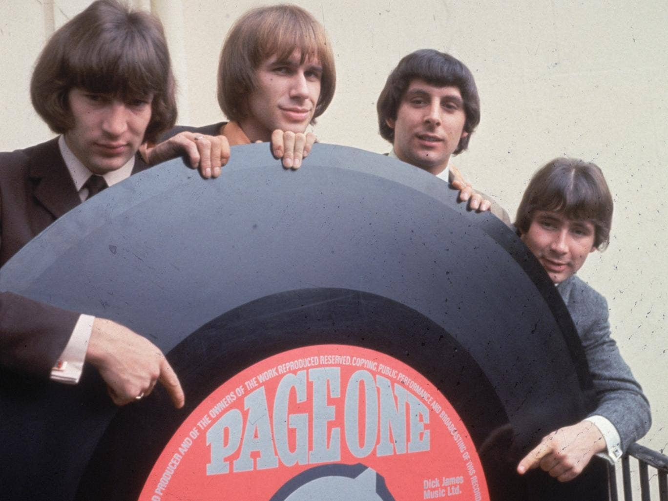 The Troggs in 1965: Ronnie Bond, Chris Britton, Pete Staples and Presley