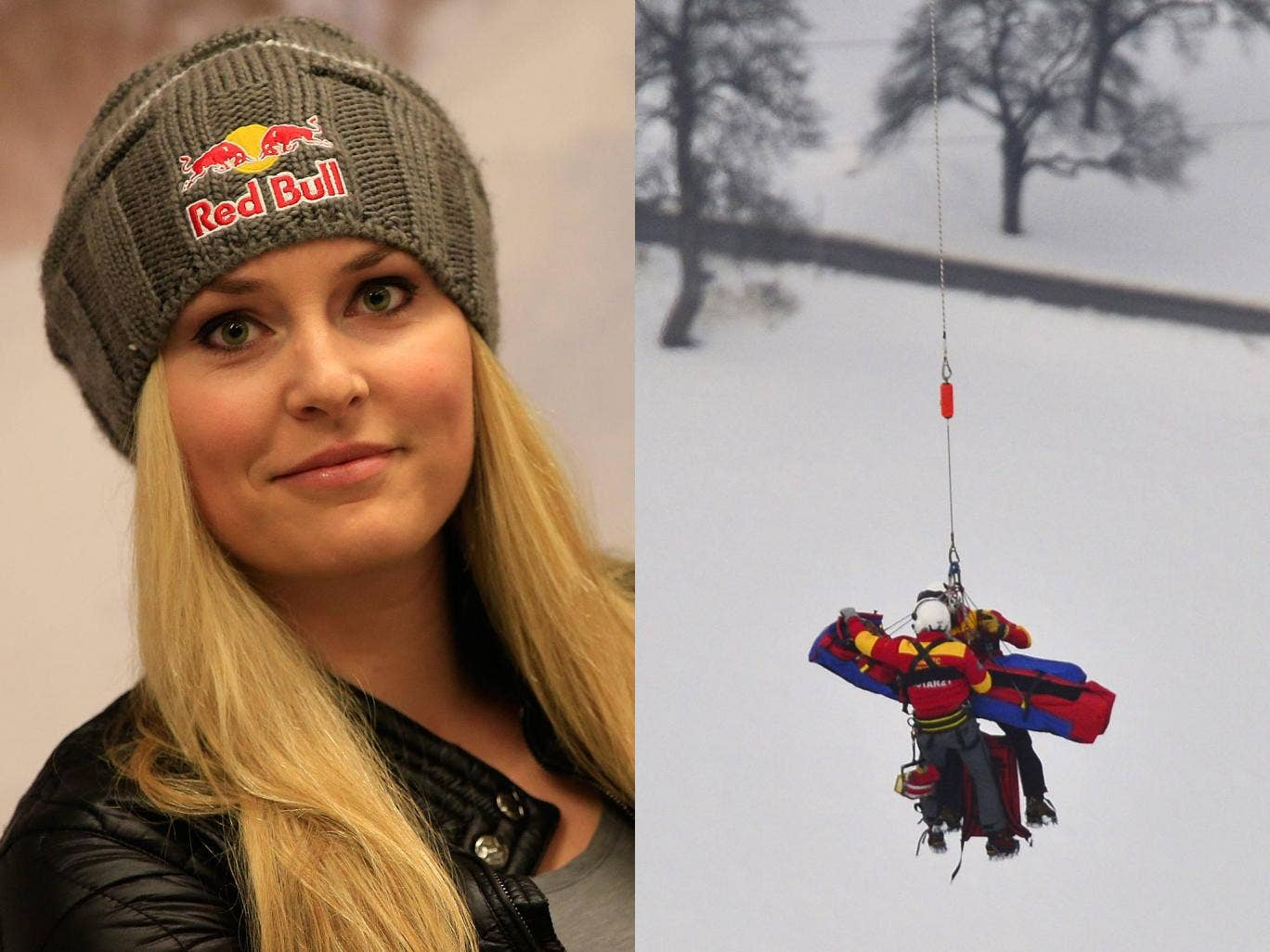 Lindsey Vonn is airlifted to hospital