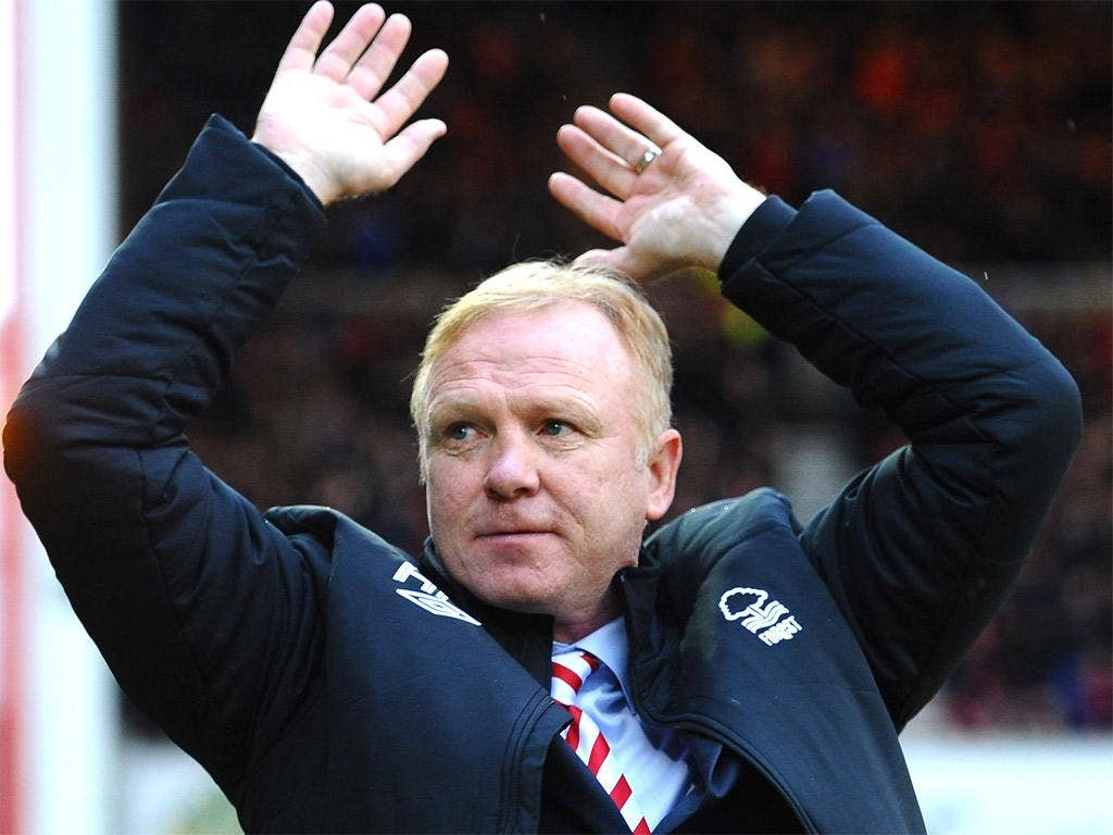 Alex McLeish was in charge for just seven games at Forest