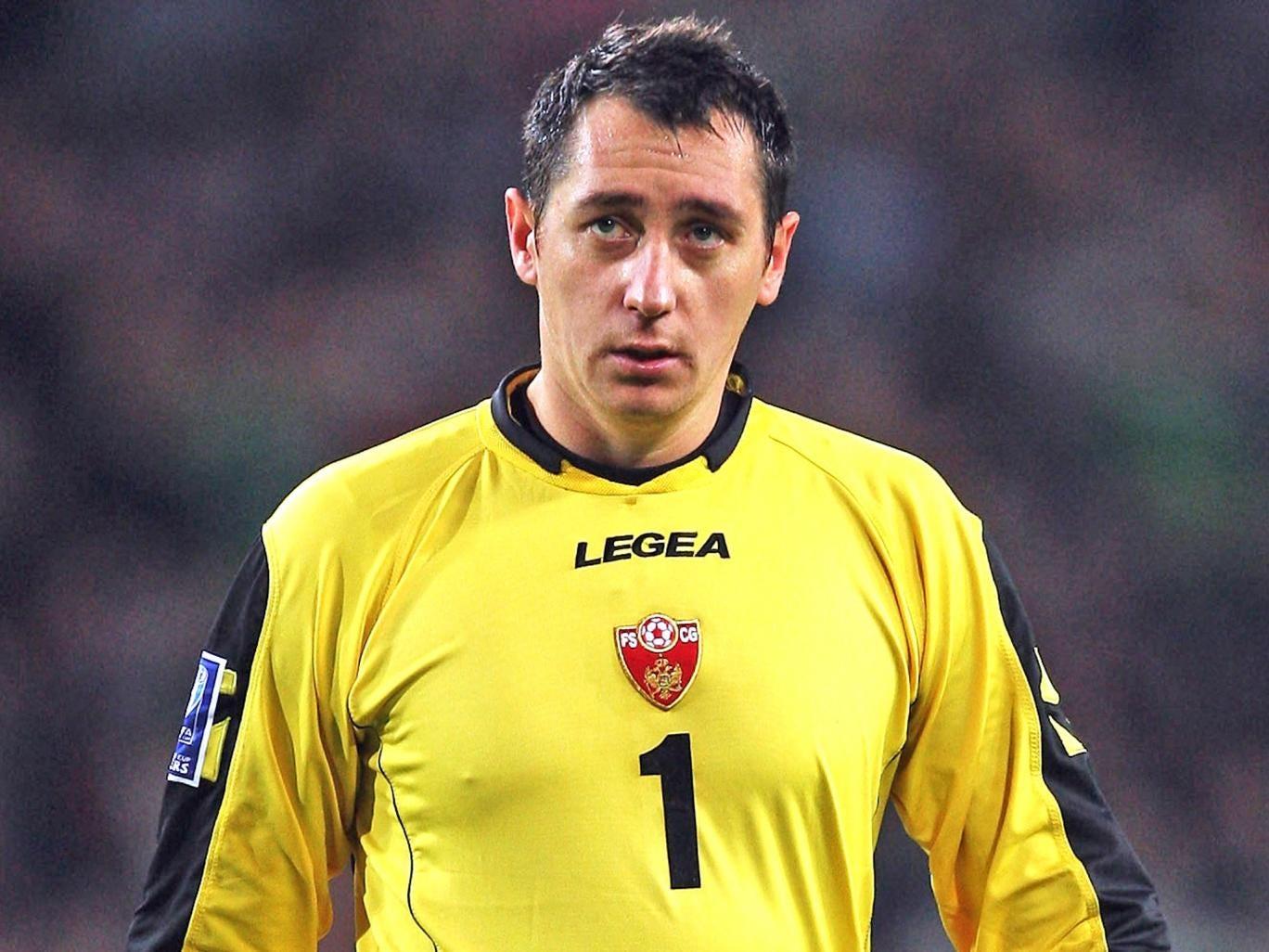 Vukasin Poleksic playing for Montenegro
