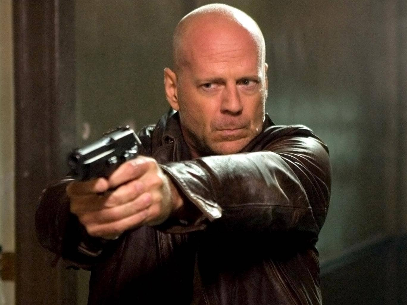 Bruce Willis fires a weapon in 2007's 'Die Hard 4.0'