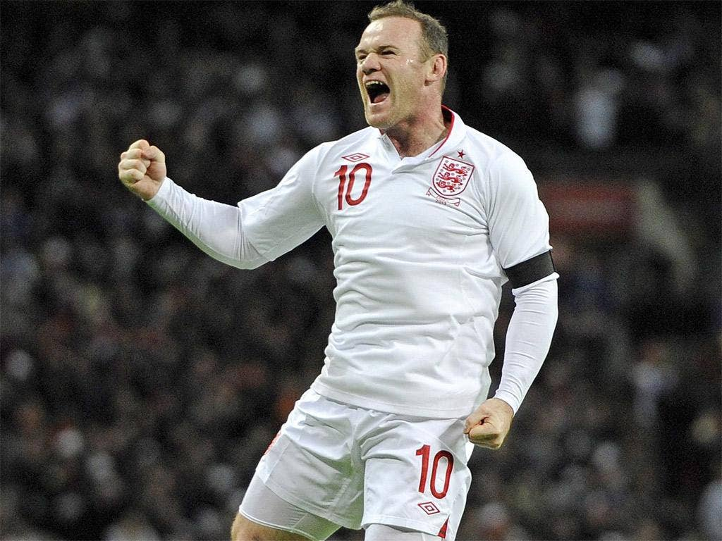 WAYNE ROONEY: Excellent leading the line and dropping to link up. He took his goal perfectly and stole in to set up Lampard. 8