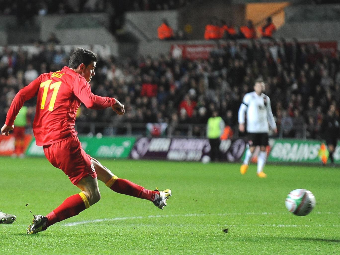 Gareth Bale opens the scoring in Swansea