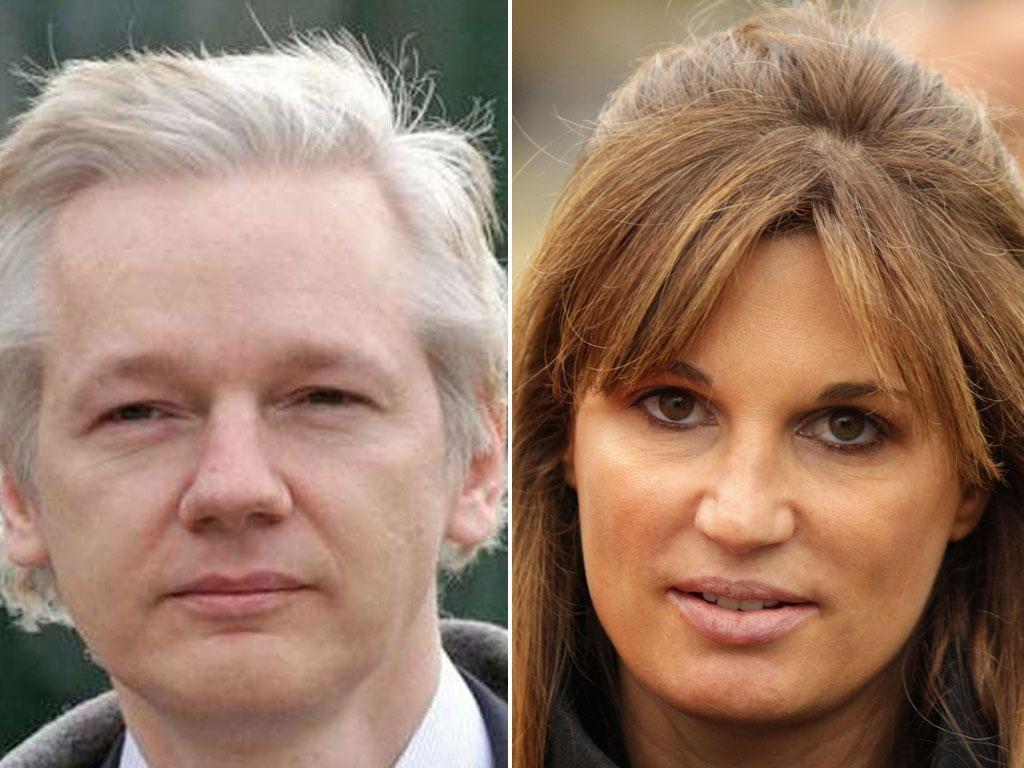"""Jemima Khan has warned Wikileaks founder Julian Assange that he risks falling from a """"hero"""" to the Australian L Ron Hubbard"""