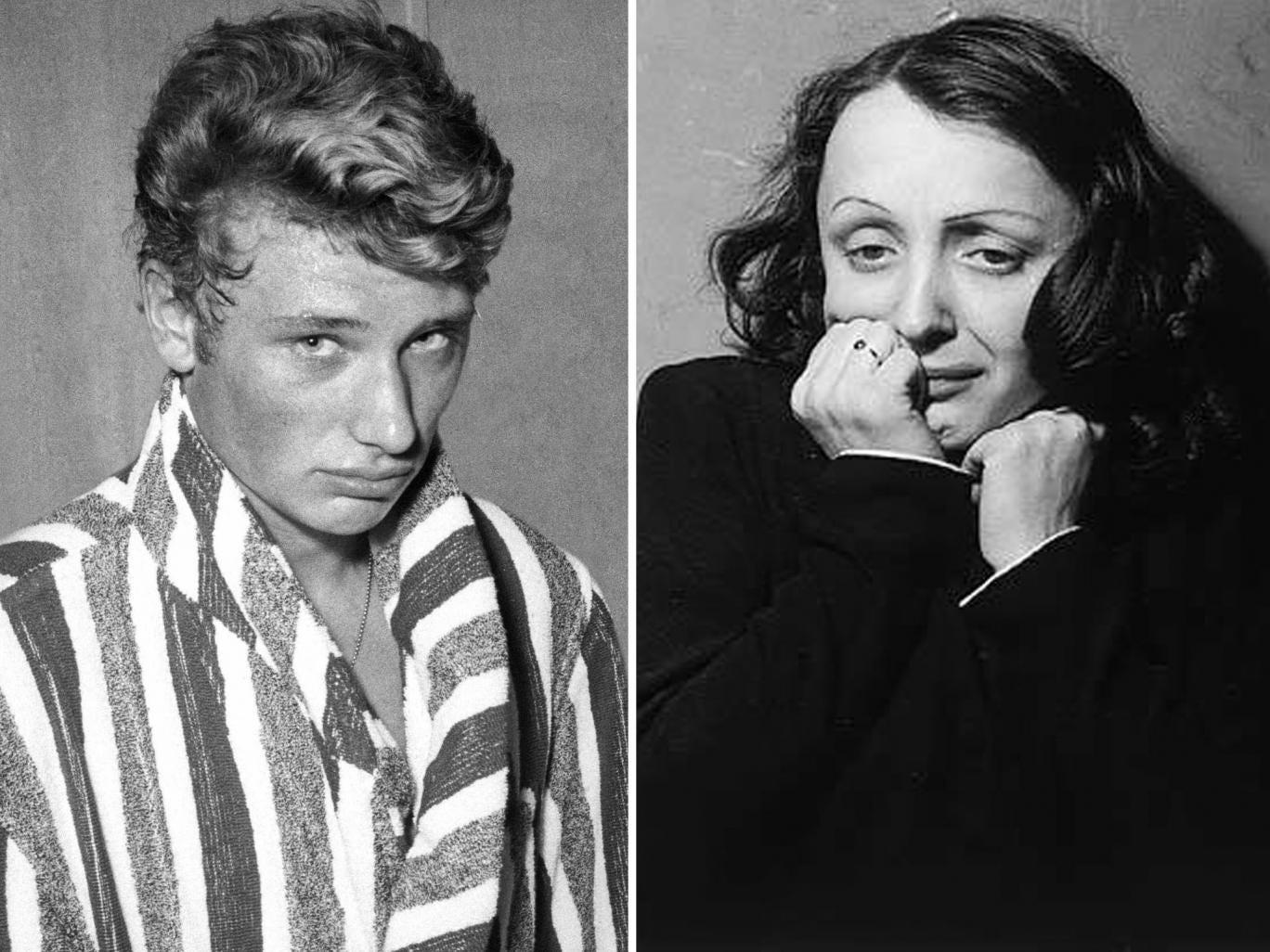 Jonny Hallyday was seduced by Edith Piaf