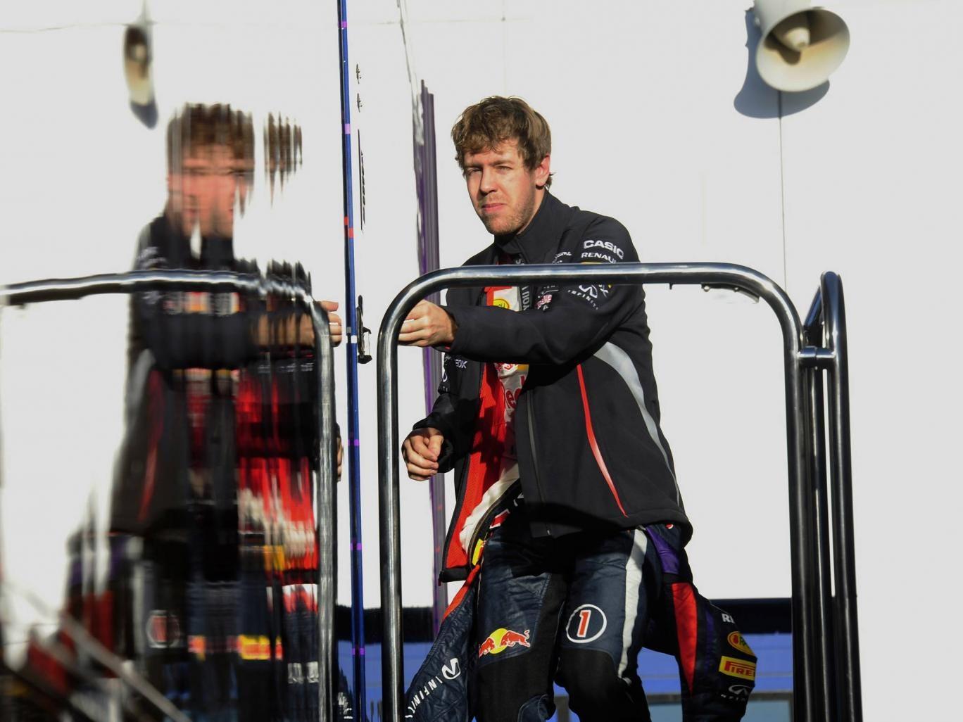 Red Bull driver Sebastian Vettel at pre-season testing