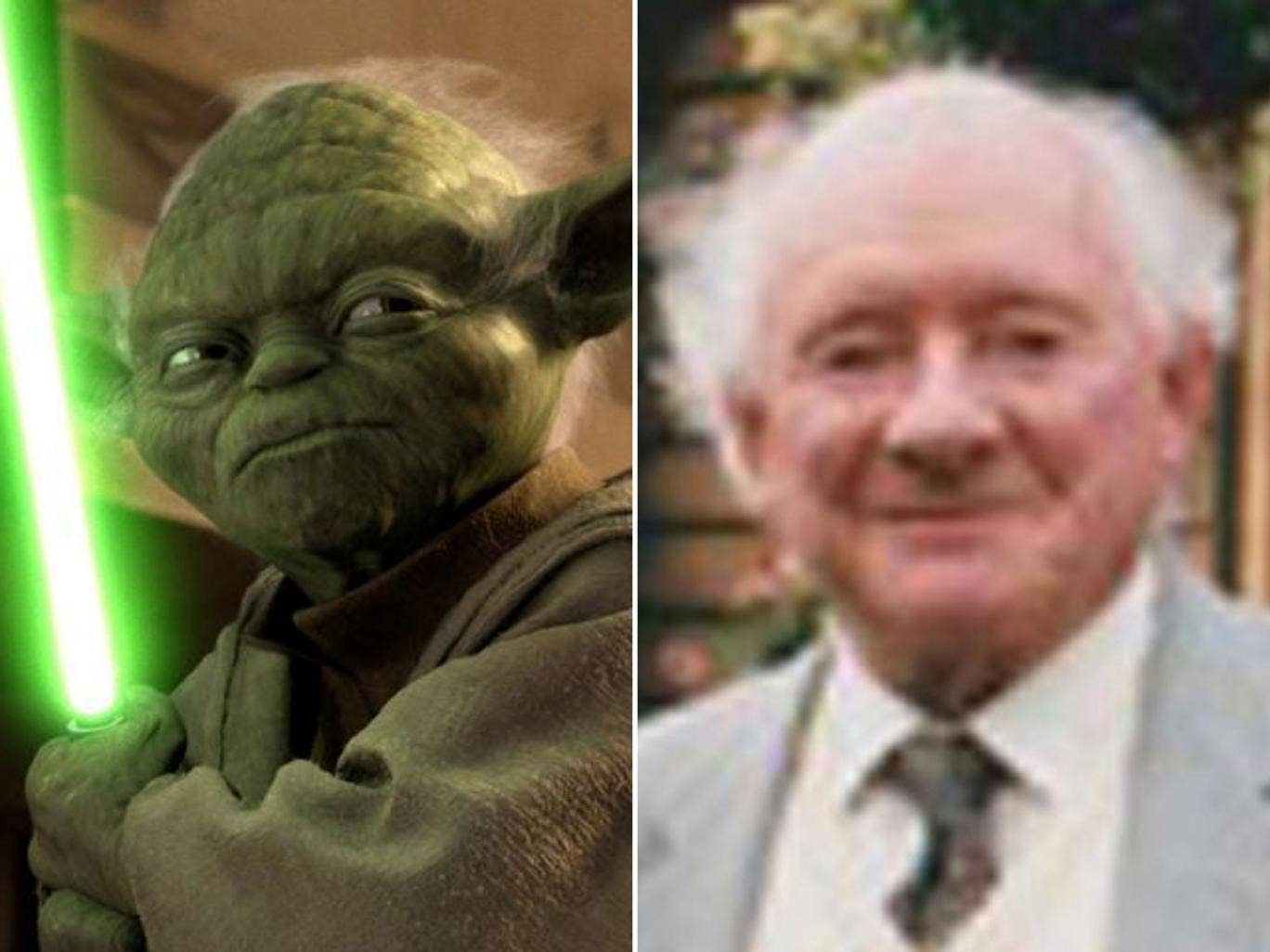 Yoda, the character Freeborn said he modelled on himself, along with a touch of Einstein