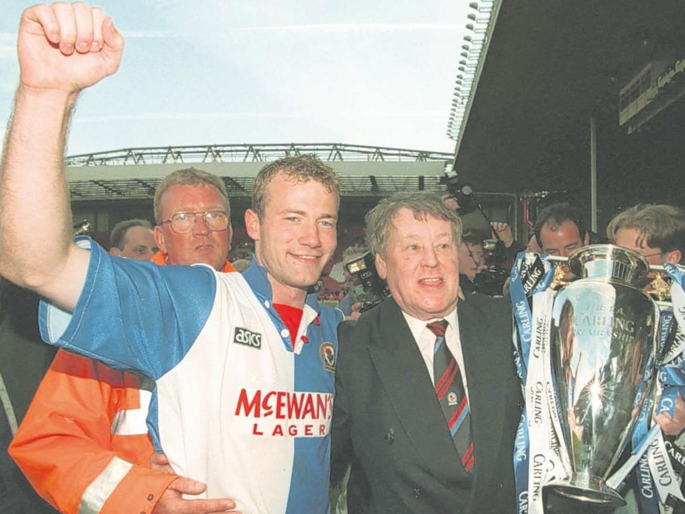 Jack Walker with Alan Shearer at Blackburn Rovers