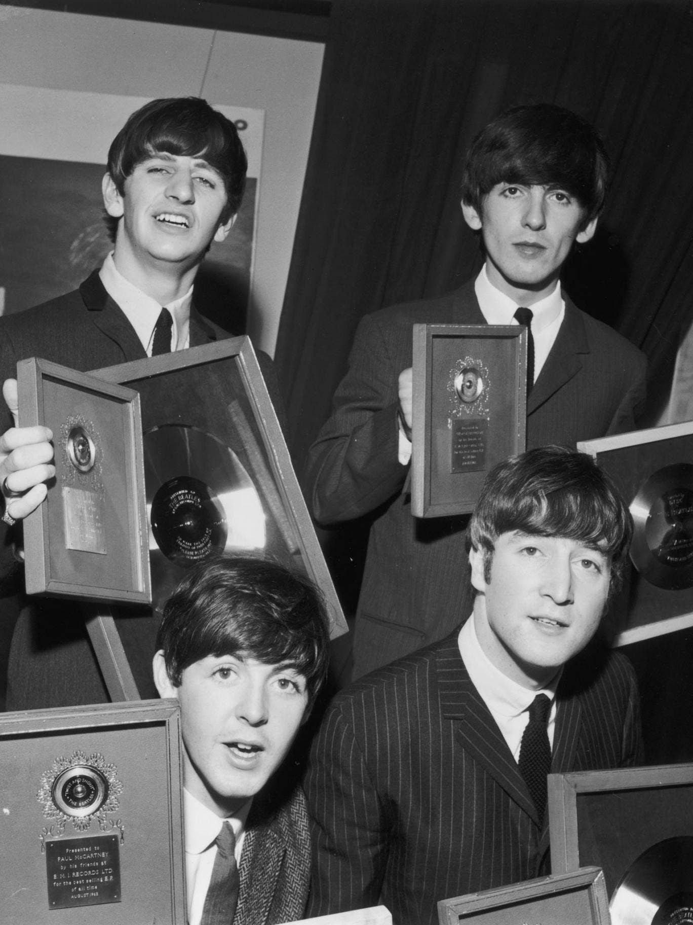 The Beatles with their debut album Please Please Me. It will be re-recorded to celebrate its 50th anniversary