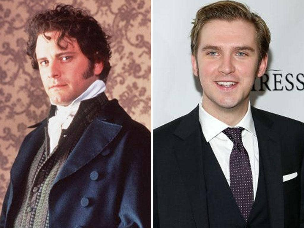 Fitzwilliam Darcy: Dan Stevens,right, may step into the role made famous in recent times by Colin Firth, left