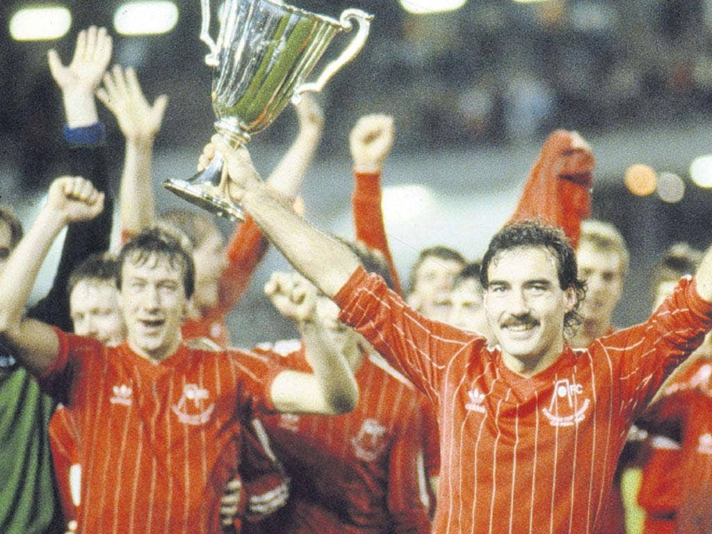 Captain Willie Miller holds aloft the Cup Winners' Cup after Aberdeen's 1983 win over Real Madrid