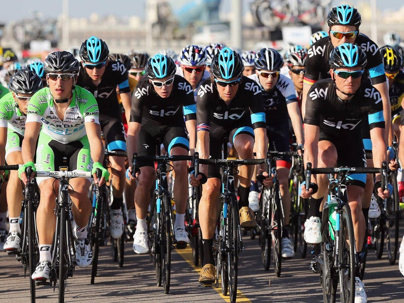 Bradley Wiggins and Chris Froome in Oman
