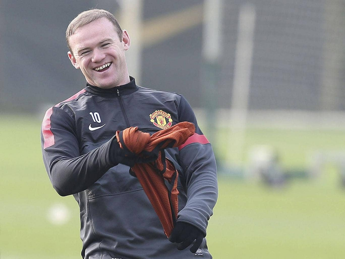Wayne Rooney pictured training for United