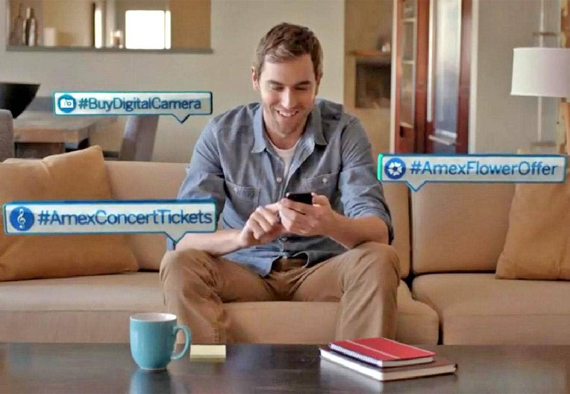 American Express users on Twitter will be able to buy products by using specific hashtags