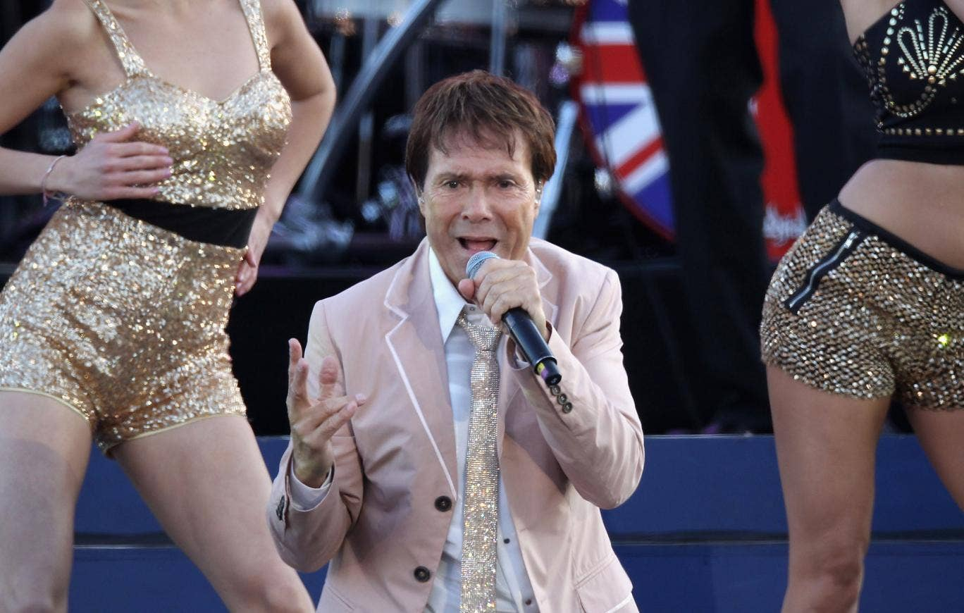 Sir Cliff Richard performing at another Royal dwelling, Buckingham palace, for the Queen's Diamond Jubilee last June.