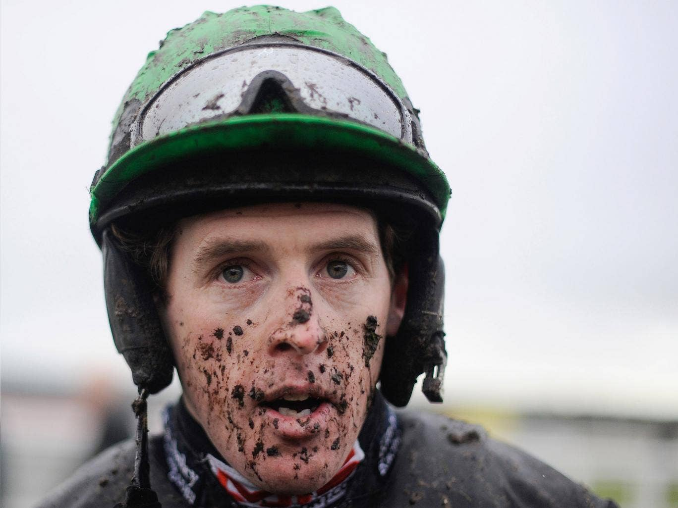 Jason Maguire: the jockey told trainer Donald McCain that Peddlers Cross was merely idling