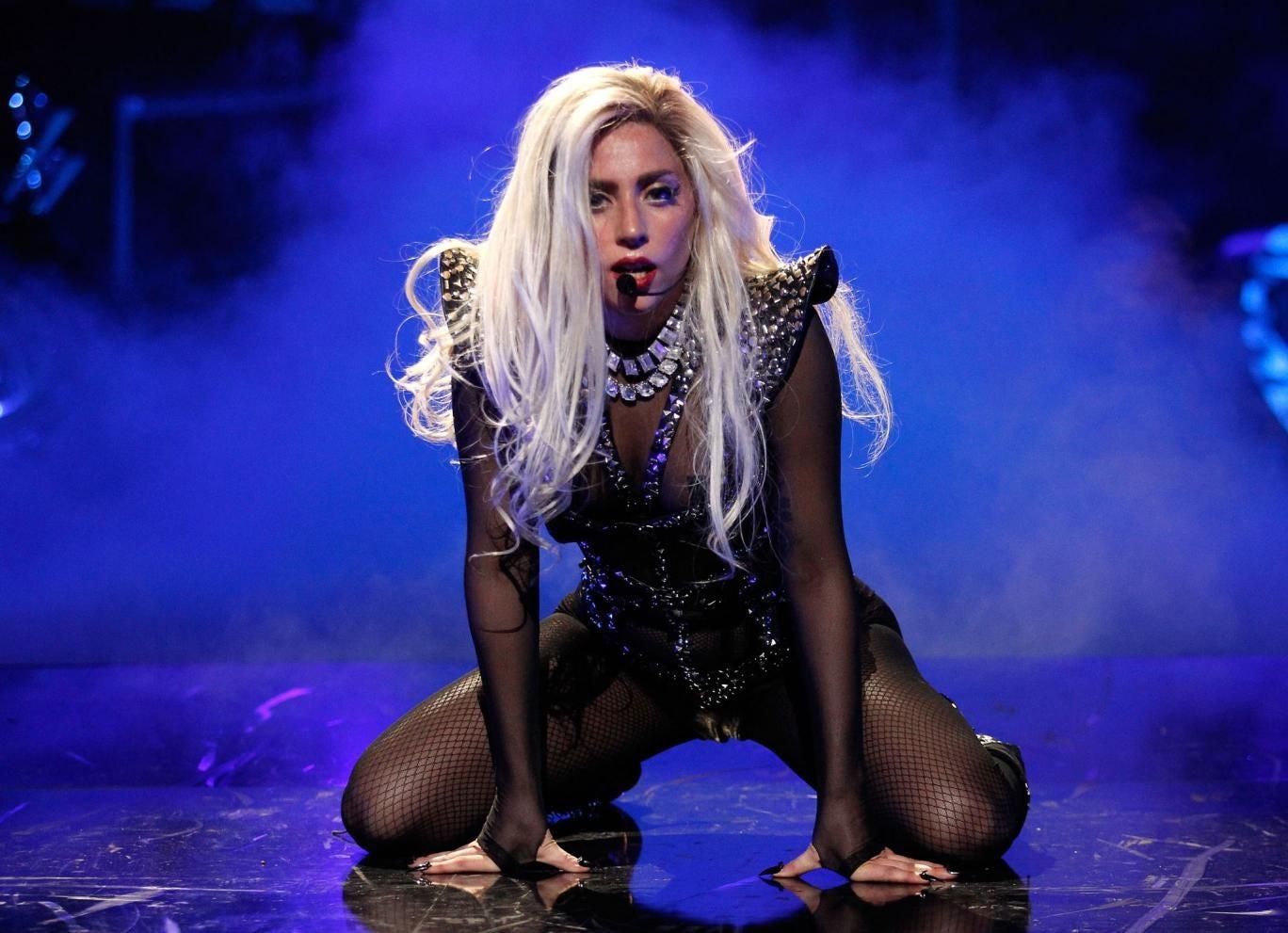 Lady Gaga performing live