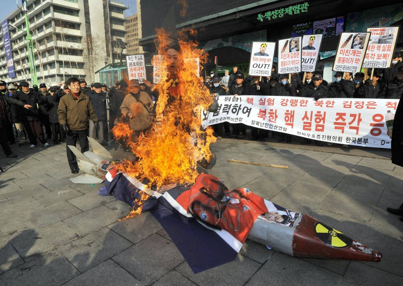 "North Korea warned it could take ""second and third steps"" after a nuclear test last week. The test prompted protests in South Korea."