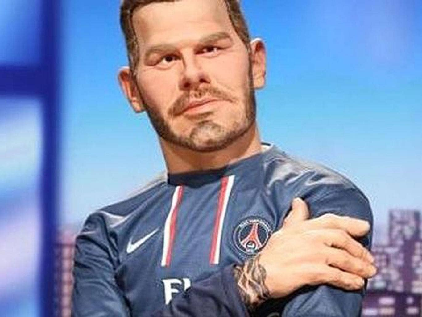 David Beckham's puppet on Les Guignols de l'info