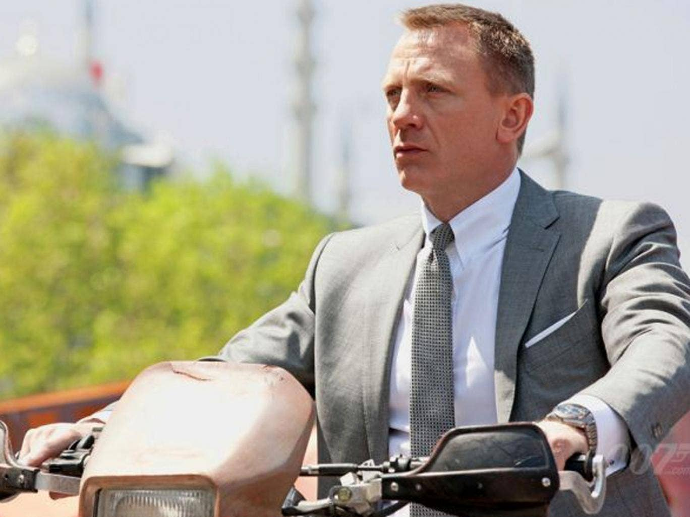 Daniel Craig, as James Bond in Skyfall