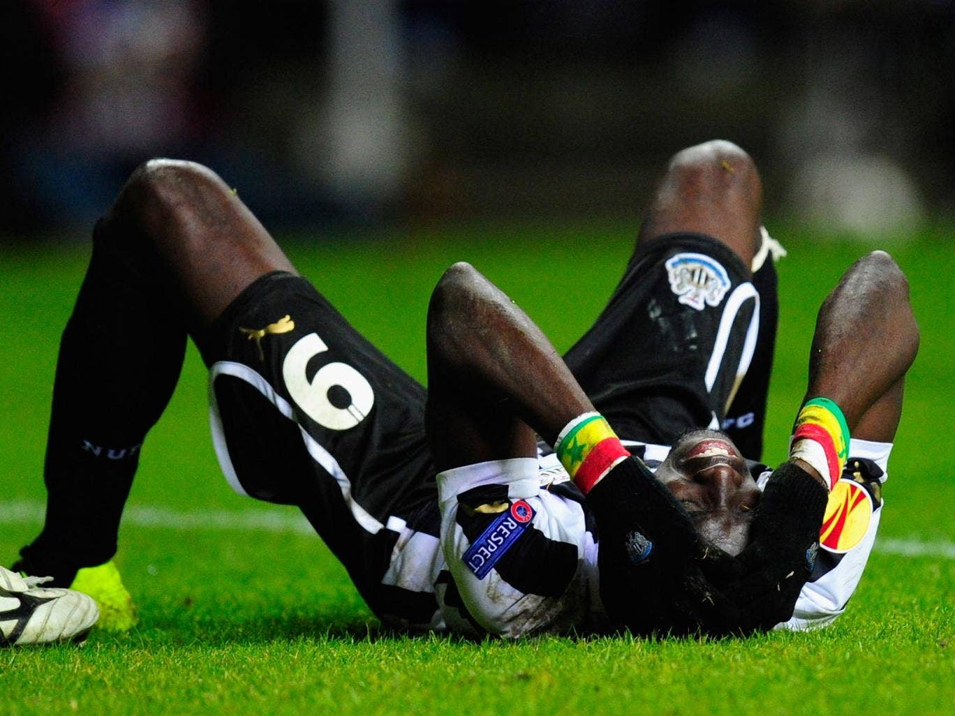 Newcastle striker Papiss Cisse in action against Metalist Kharkiv
