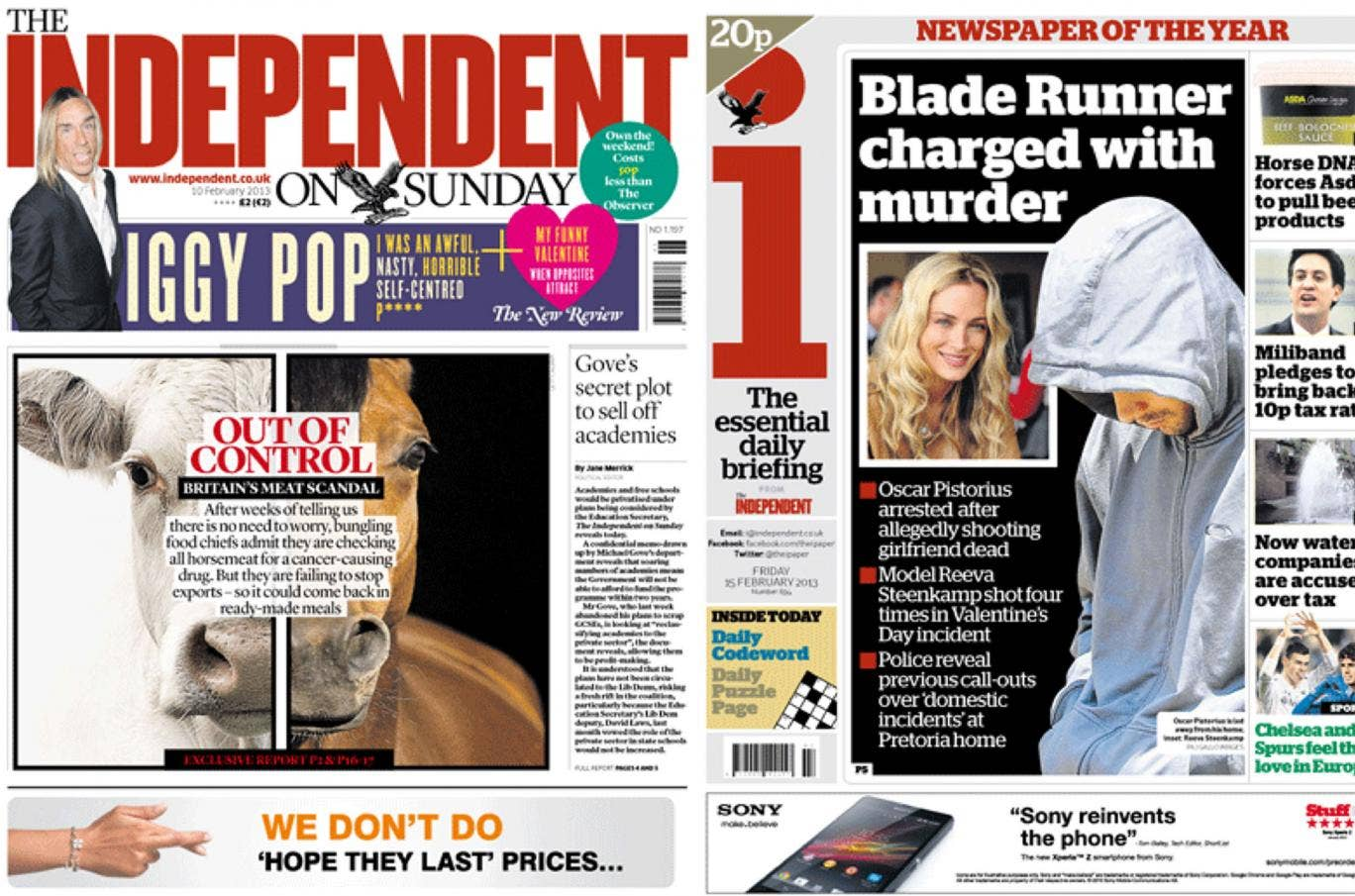 The Independent on Sunday's readership grew by 12 per cent to 547,000 while the i newspaper now has 612,000 readers