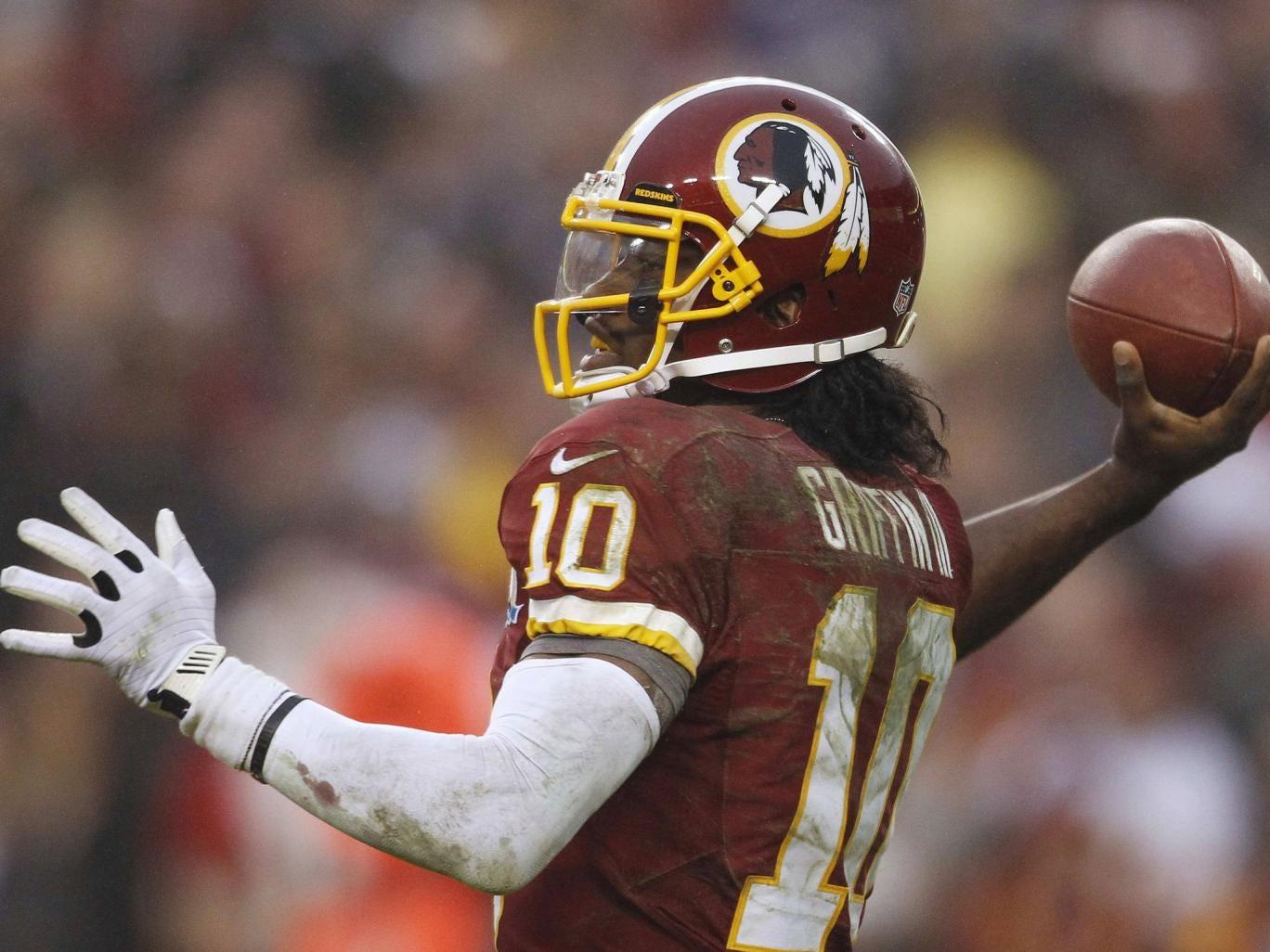 On the ball: Washington Redskins quarterback Robert Griffin