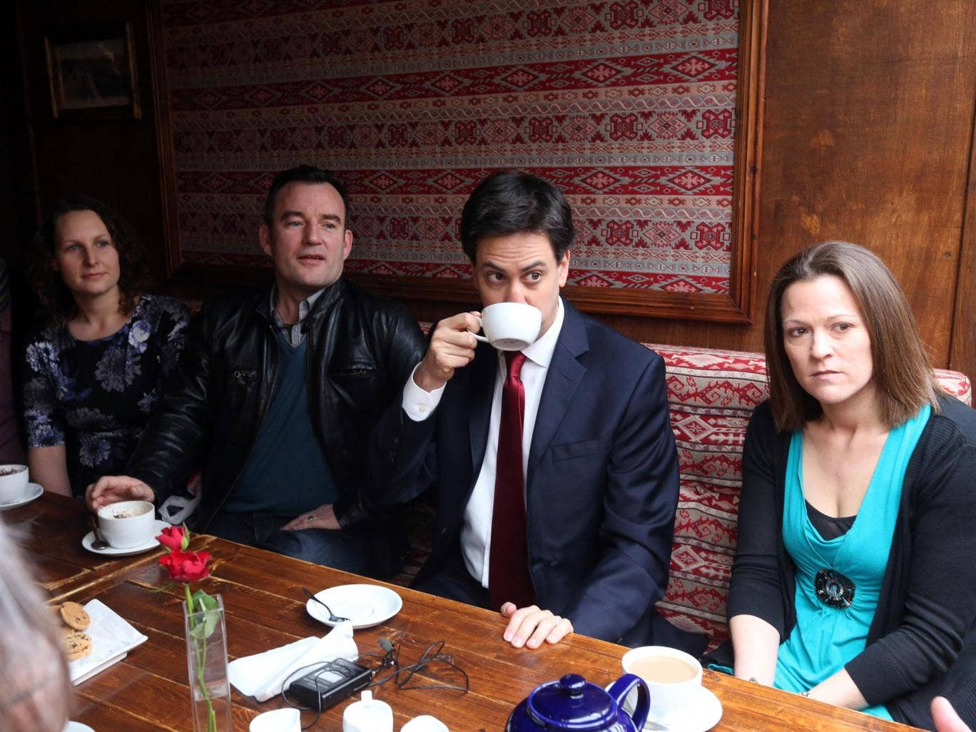 Meet the voters: Ed Miliband talks to former Liberal Democrat supporters in Eastleigh
