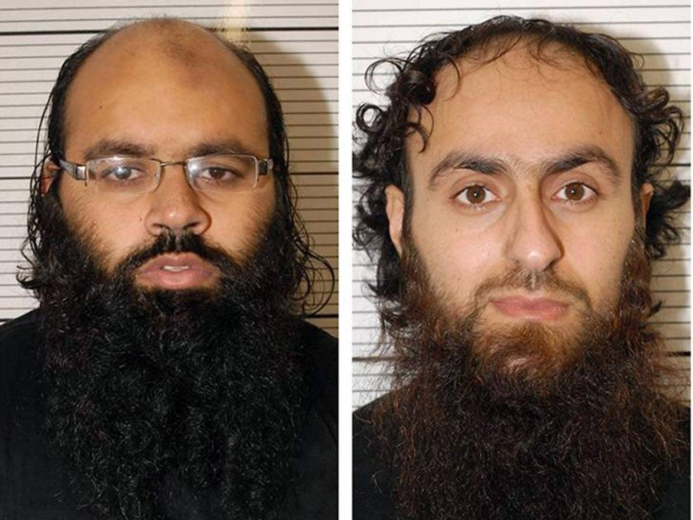 Police photos of terrorist plotters Irfan Naseer (left), 31, and Irfan Khalid, 27, who were described as ringleaders in the Birmingham extremist plot