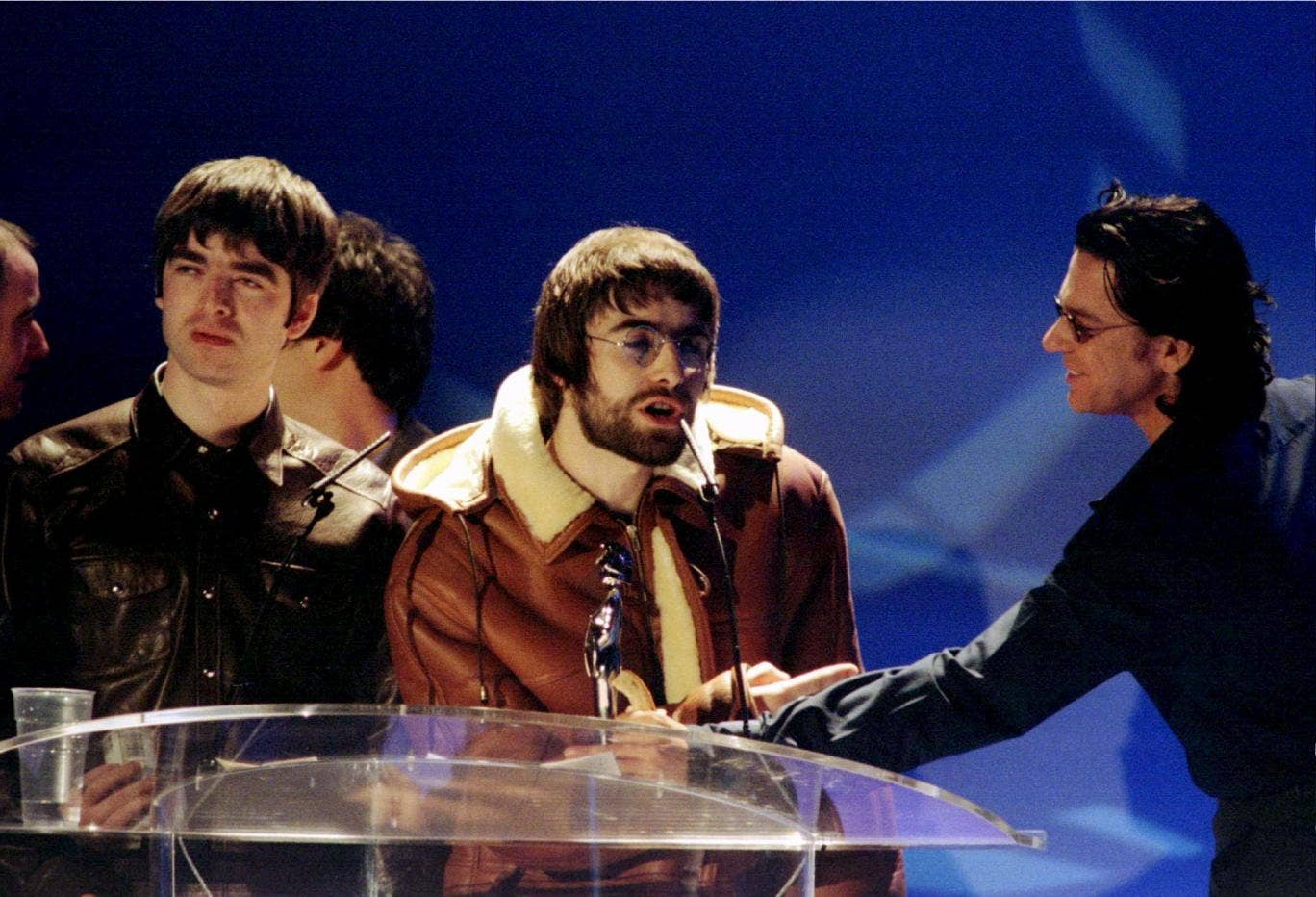 "<p>Noel Gallagher, 1996</p> <p>Oasis star Noel Gallagher began his downward spiral of Brit controversy by telling the INXS singer Mick Hutchence, who presented the band with an award: ""has beens shouldn't present f***ing awards to gonna-bes."
