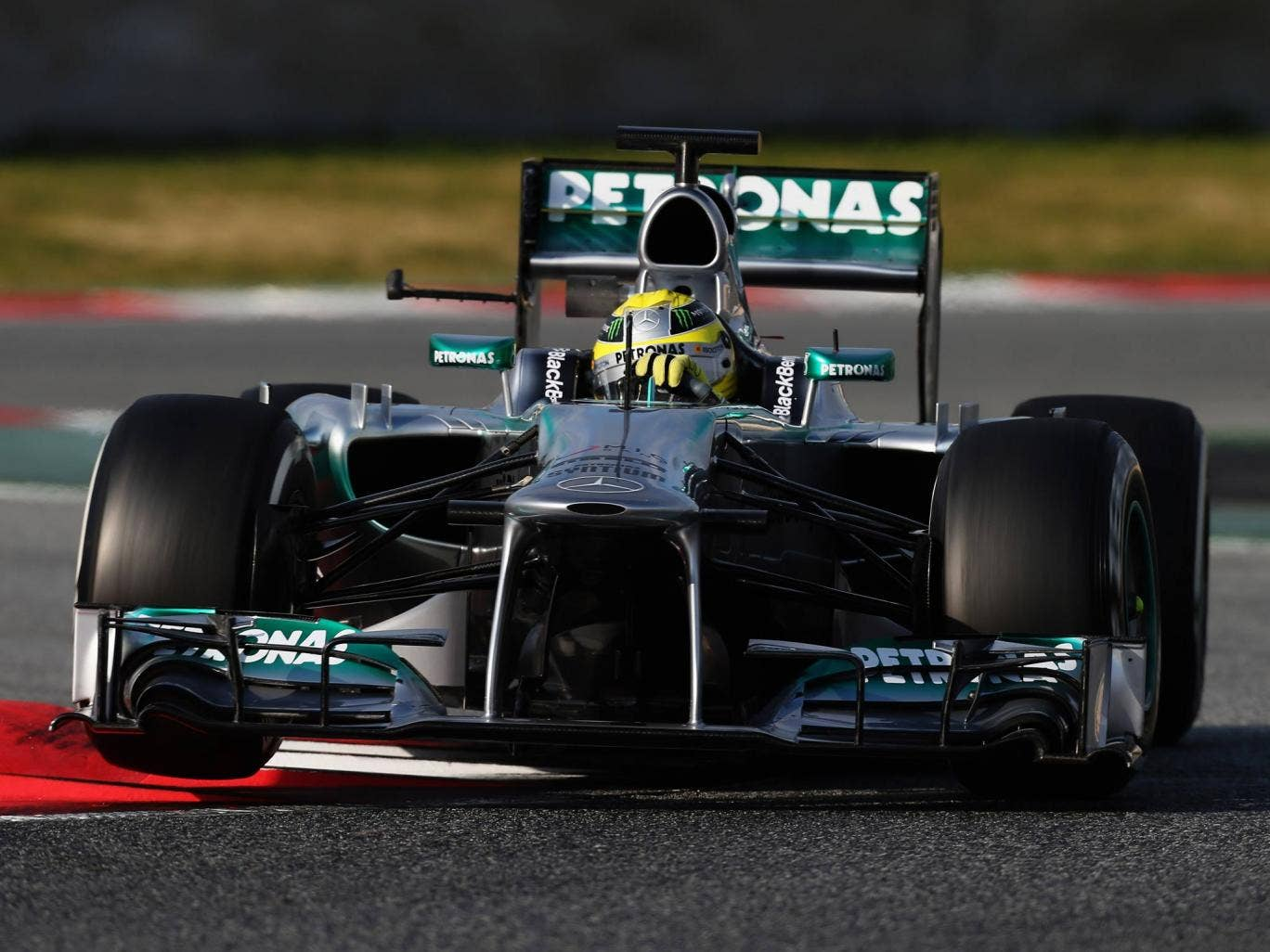 Nico Rosberg behind the wheel for Mercedes