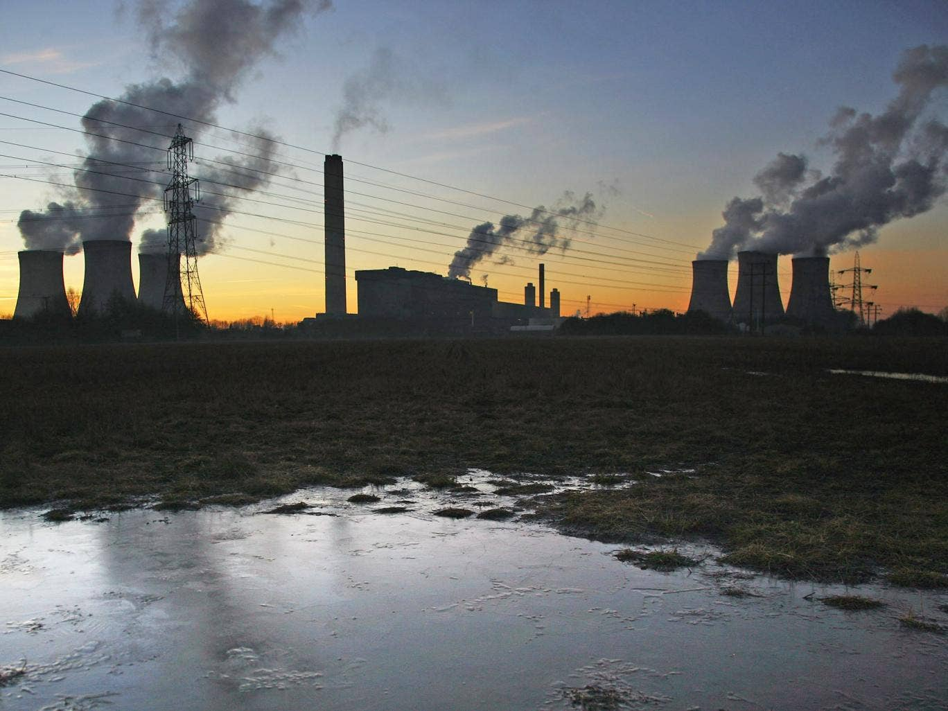 Didcot Power Station in Oxfordshire