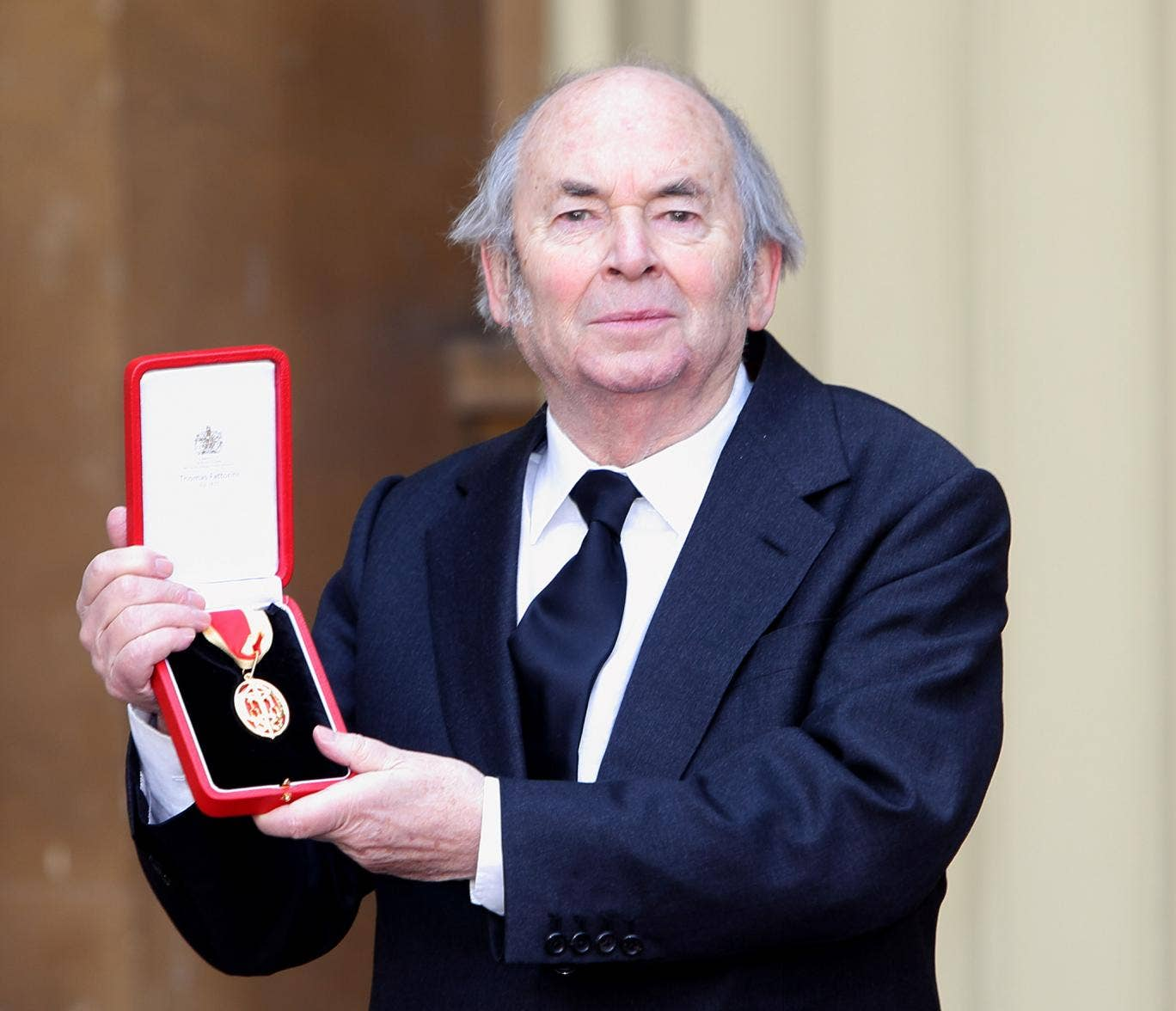 Sir Quentin Blake receiving his investiture at Buckingham Palace