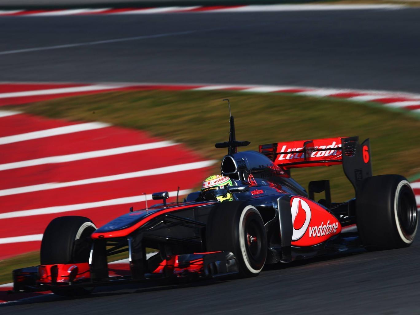 Sergio Perez of McLaren