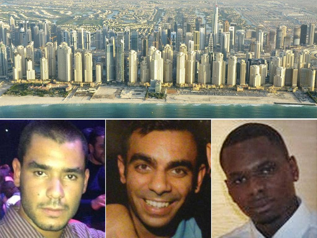 Grant Cameron, Suneet Jeerh and Karl Williams were arrested during a holiday in Dubai seven months ago