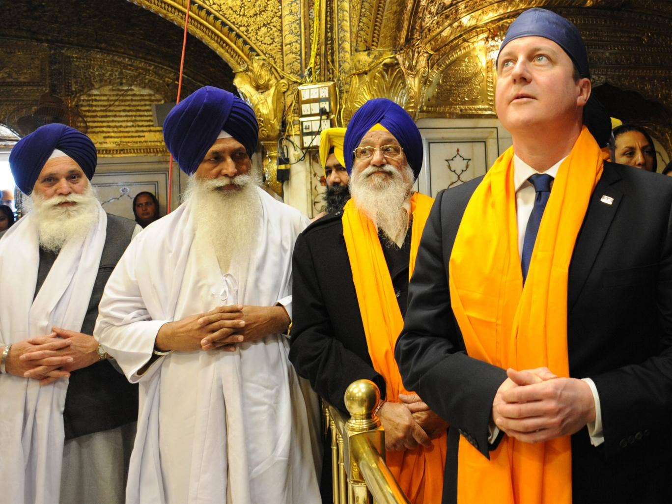 David Cameron visits the Golden Temple in Amritsar