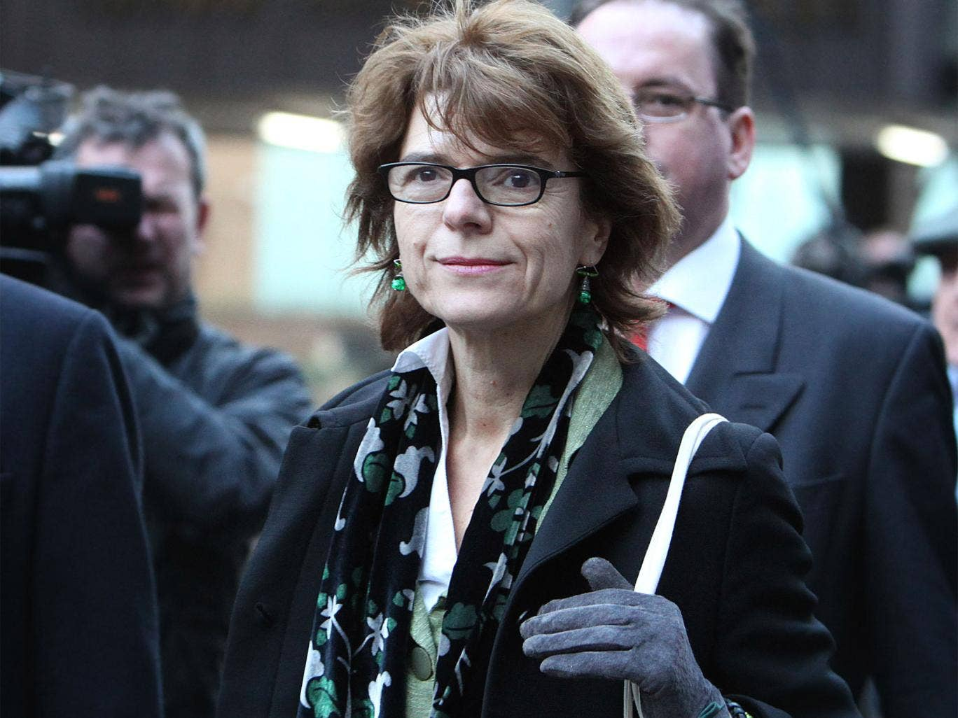 Vicky Pryce leaving Southwark Crown Court