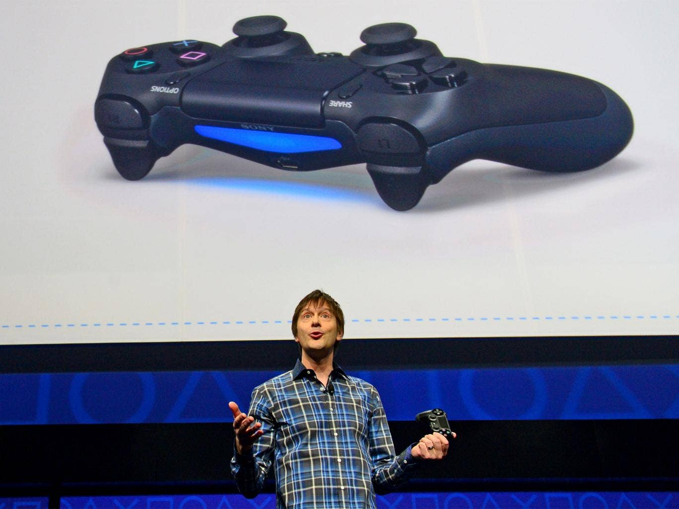 Video game designer Mark Cerny talks about the new controler Bioshock 4 as Sony introduces the PlayStation 4