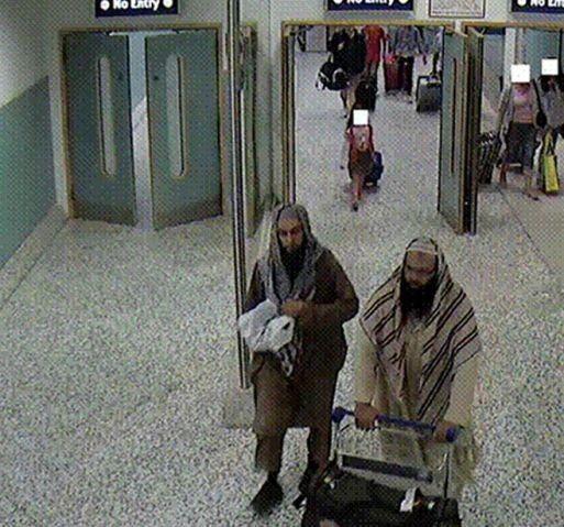 Irfan Khalid and Irfan Naseer arriving at Birmingham airport